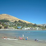 Swimmers, French Bay, Akaroa